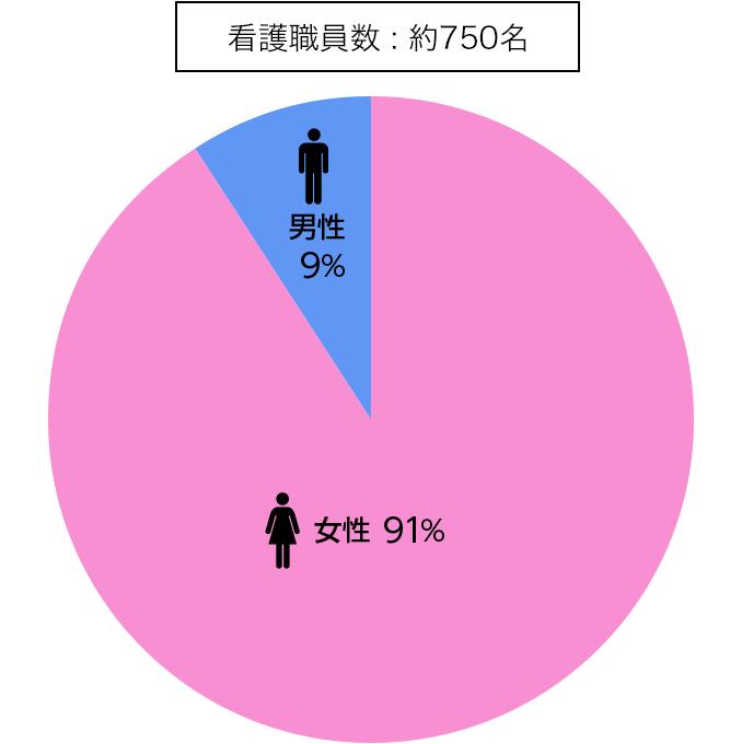 男女比率割合図